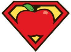 Teacher superhero logo