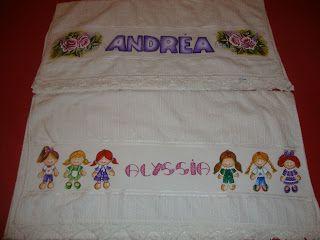 Jaci Aguiar Artes & Pinturas em tecido: Pinturas em toalhas de banho para adulto  e  crian...