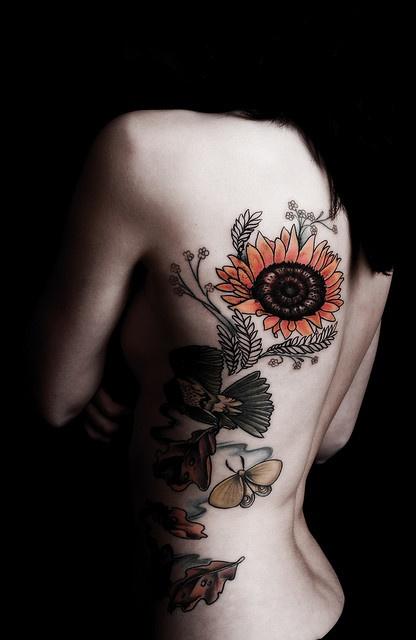 sunflower: Tattoo Placements, Tattoo Ideas, Tattoo Sleeve Sunflowers, Sunflowers Covers Tattoo, A Tattoo, Tattoo Design, Sunflowers Tattoo, Tattoo Ink, Beautiful Artwork