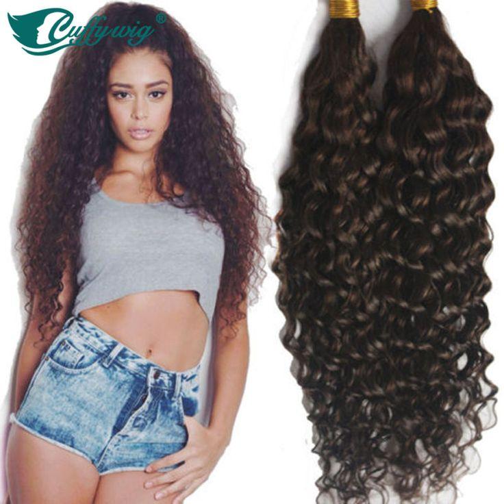 8A Deep Curly Virign Brazilian Bulk Human Hair For Braiding 100% Unprocessed