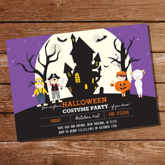 Halloween Costume Party Invitation Kids By SunshineParties On #Etsy....love  These