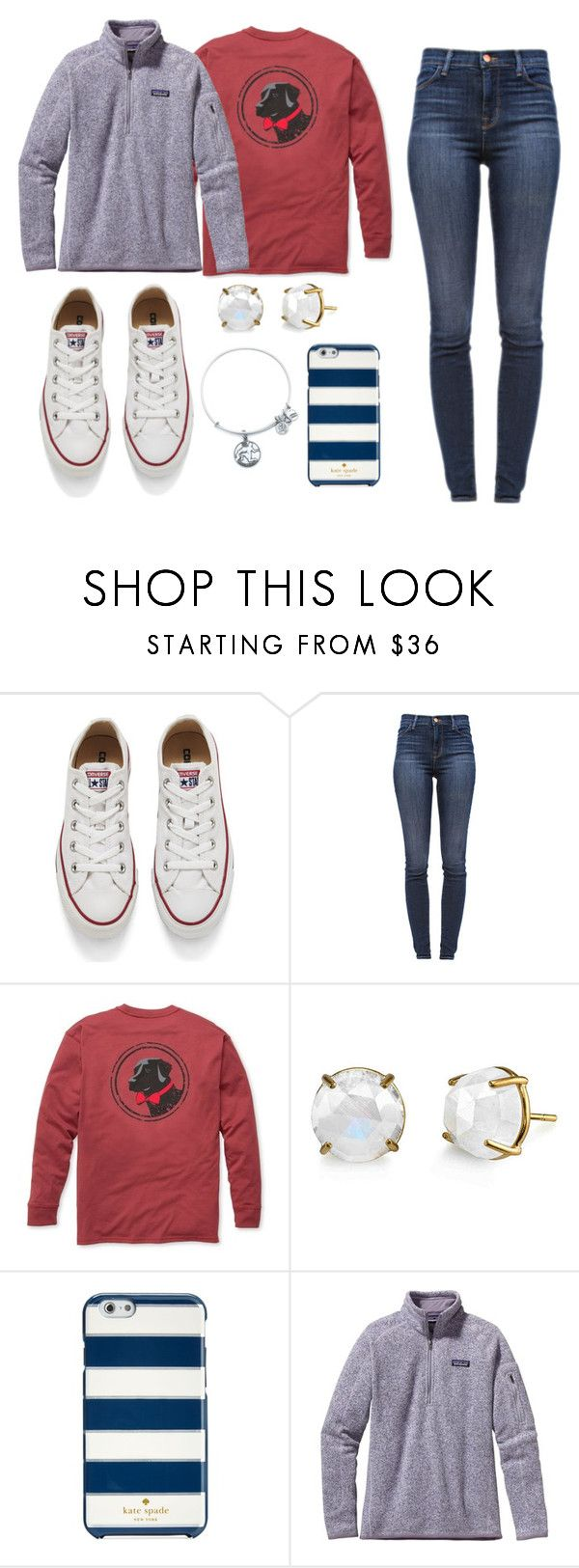 """""""Fall Day"""" by niamhbrid on Polyvore featuring Converse, J Brand, Southern Proper, Kate Spade, Patagonia, Alex and Ani, women's clothing, women, female and woman"""
