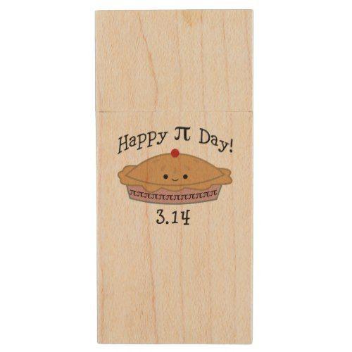 Cute Happy Pi Day! Wood Flash Drive
