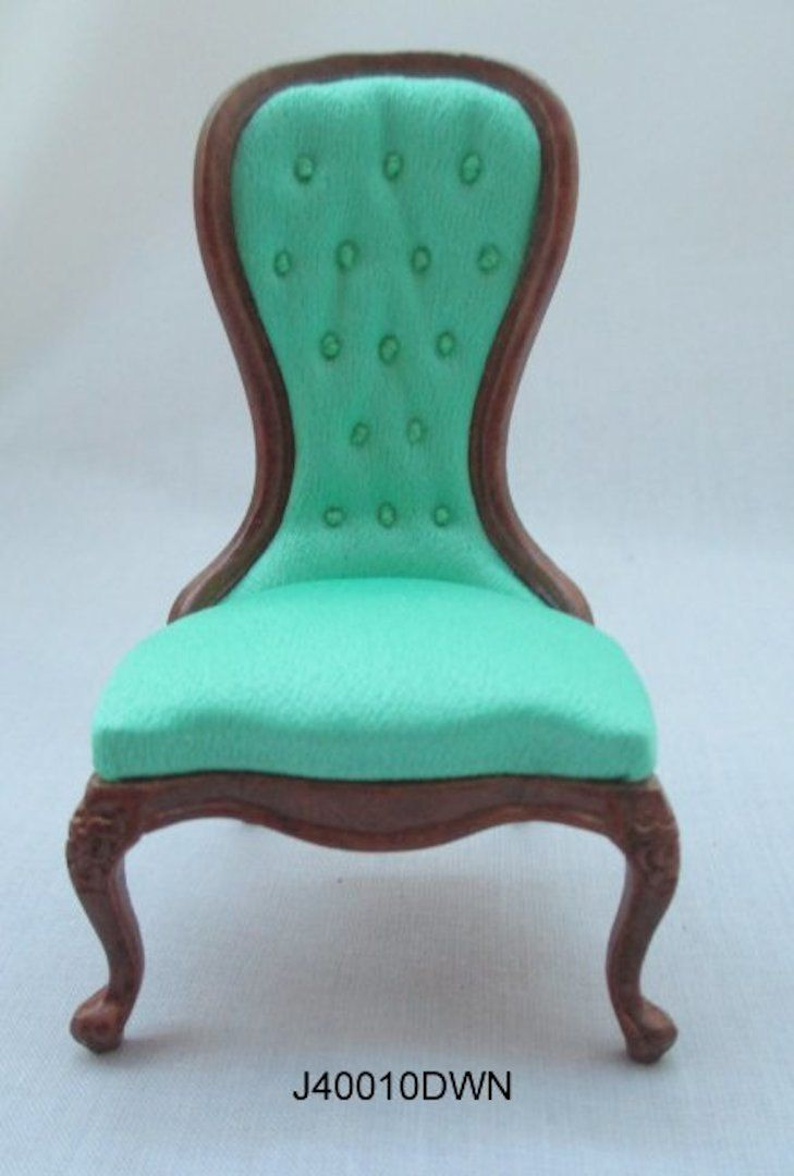 1/12 Scale dollhouse roombox diorama Victorian spoon back slipper chair JBM J40010 by CustomDollhouse on Etsy