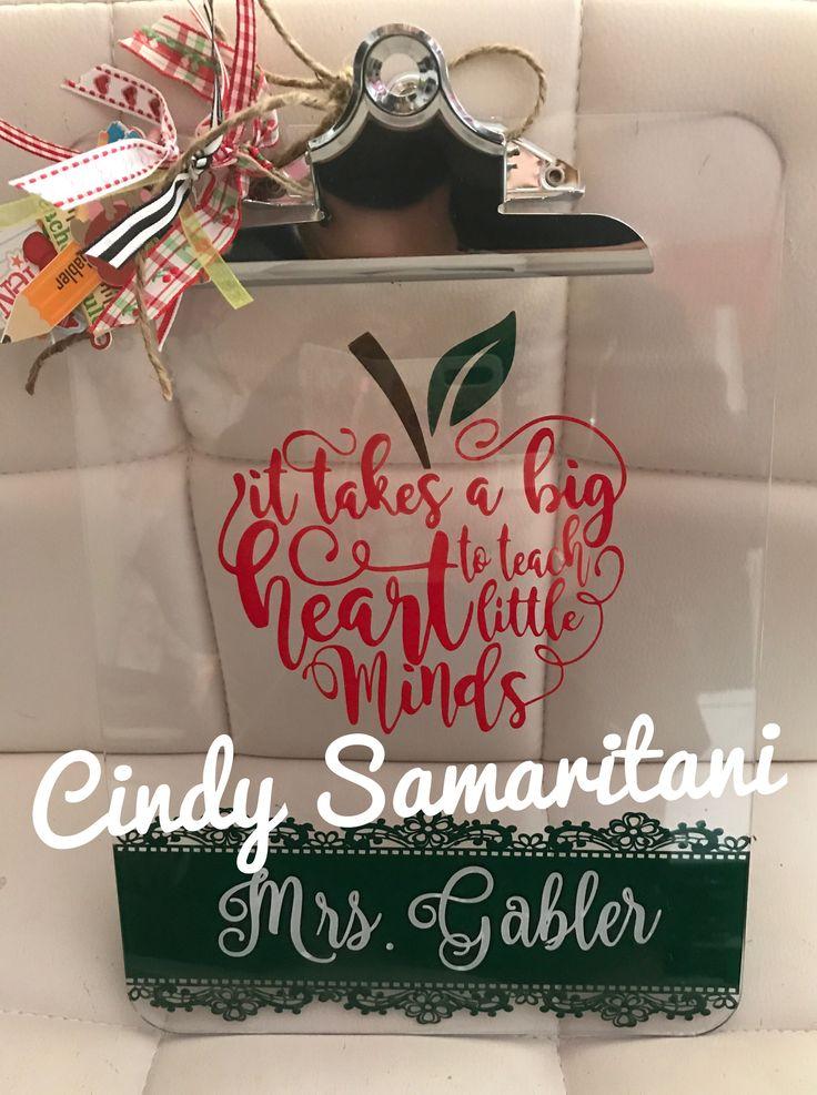 Cricut Teacher Appreciation Gift, Vinyl, Personalized Clip Board