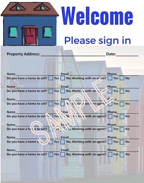 Best 25+ Open house signs ideas on Pinterest Realtor gifts - how to make a sign in sheet in word