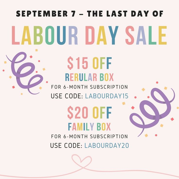 Last change to get LabourDay Discount! Get $20 OFF when you order Family box for 6-month and $15 OFF when you choose Regular Sized Box for 6-month subscription. To get discount use code at checkout: LabourDay20 - for Family Box 6-month subscription LabourDay15 - for Regular Box for 6-month subscription  This offer is ends at September 7, 2016.  We have FREE SHIPPING withing CANADA!  🌍 www.sweetify.ca ✉️ info@sweetify.ca  #sweetify #europeancandy #chocolate #monthlybox #vancouver #giveaway…