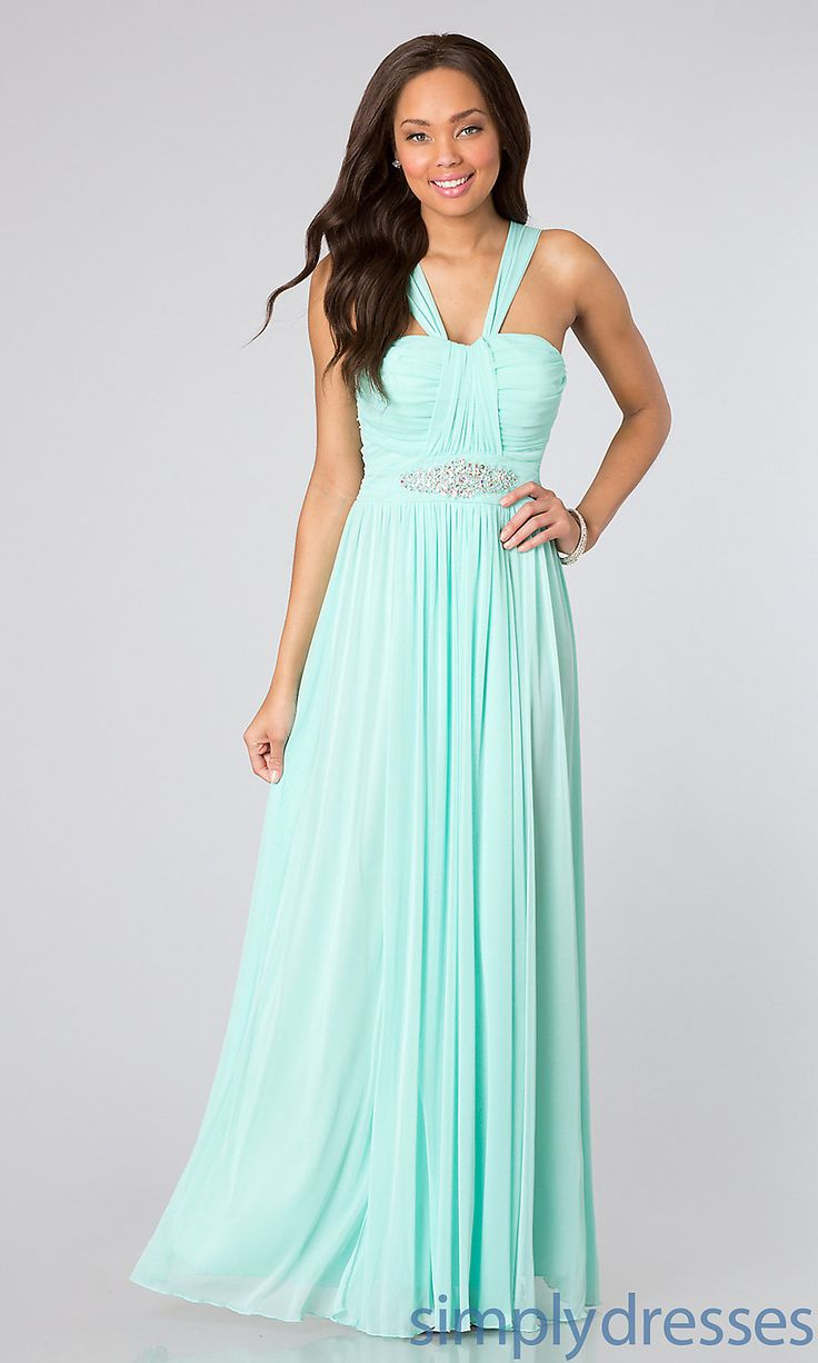 Grecian Inspired Prom Gown, Long Junior Dresses - Simply Dresses