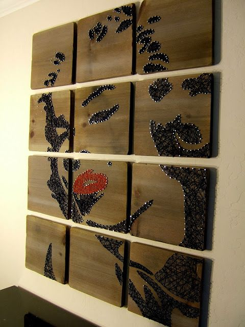 WOW wow wow wow... this is STRING art! Marilyn Monroe String Art {Nine Red}