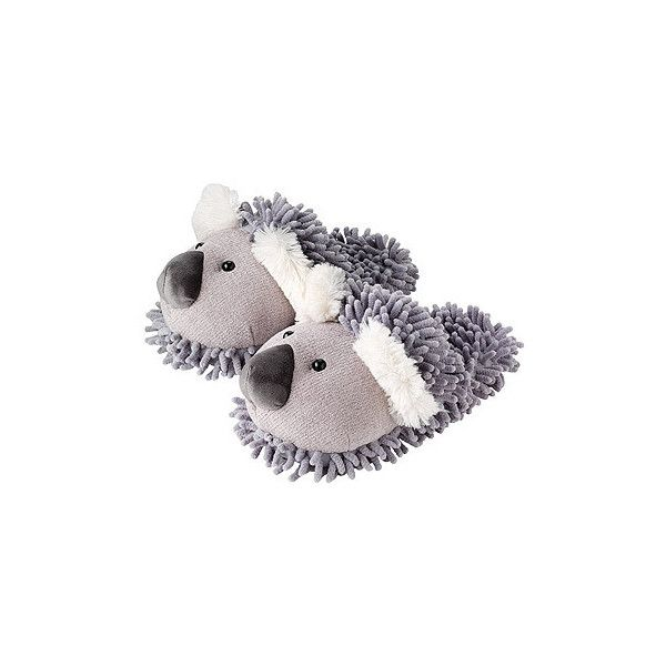 Koala Fuzzy Friends Slippers (5.995 HUF) ❤ liked on Polyvore featuring shoes and slippers