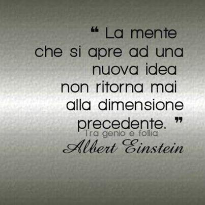 """No Einstein. Questa citazione è attribuita a Oliver Wendel Holmes, da """"L'Autocrate del tavolo della colazione"""""""