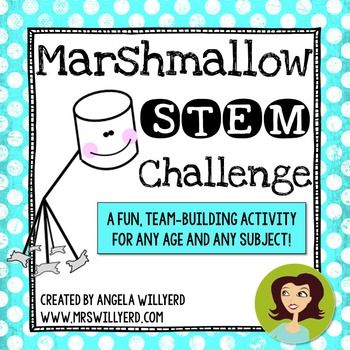 Just updated on 12/13/15!  The Marshmallow Challenge is a great team building activity that can be adapted for any grade level (even adults) or subject area.  This activity is sure to get the participants collaborating and critically thinking!  A perfect activity for days before or after winter break.Students are challenged to work together to build the tallest, free-standing tower made out of simple household items within a certain amount of time.