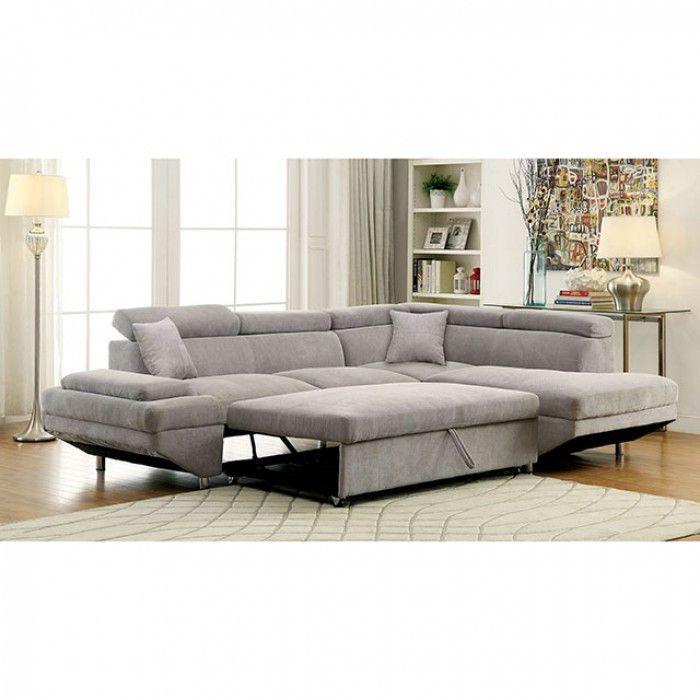 Foreman Gray Sectional Sofa Cm6124gy