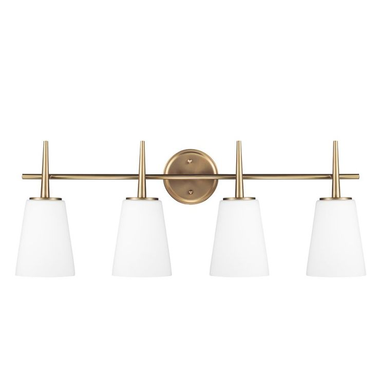 Sea Gull Lighting 4440404 Driscoll 4 Light Bathroom Vanity Light Satin Bronze Indoor Lighting Bathroom Fixtures