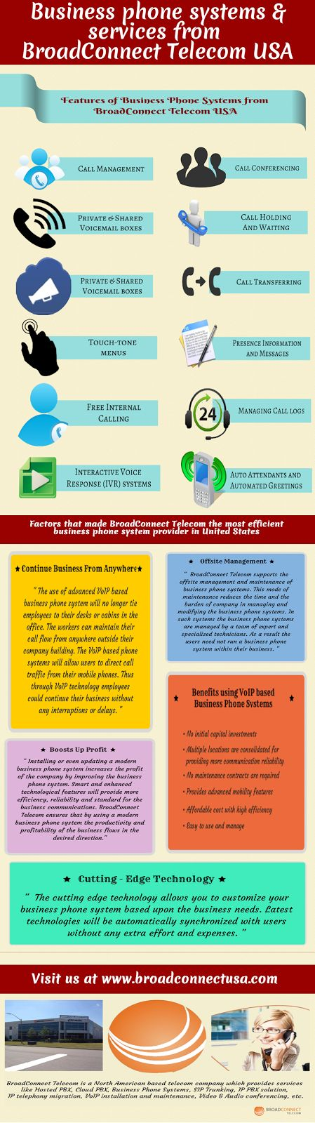 Broadconnect Telecom USA: Infographics on Business Phone System Features from BroadConnect.