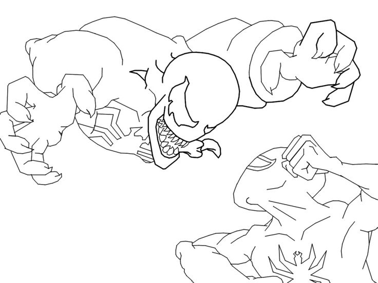 Venom Coloring Pages images Comic Book Coloring Pages Pinterest