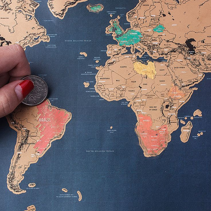 PROMOTION!Free Shipping 1Piece Deluxe Scratch Map Personalized World Scratch Map Mini Scratch Off Coating Poster mapa mundi