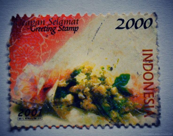 Greeting Stamp tahun 2001 (Rp 2000)