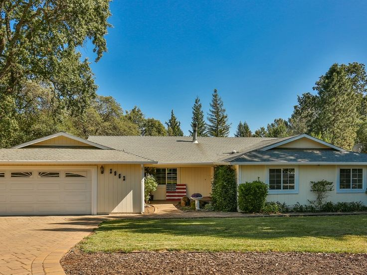 2962 ROYAL PARK COURT CAMERON PARK, CA  Beautiful curb appeal welcomes you to this home on nearly half an acre in a cul-de-sac! Well maintained with a versatile floor plan, updated w/newer HVAC & windows plus tons of storage. Kitchen opens to the family room w/warm wood stove. Formal living & dining rooms have access to the patio w/pergola. Wooded natural setting with wildlife, a side yard w/shed, patio areas & a built in pool w/new deck & liner.