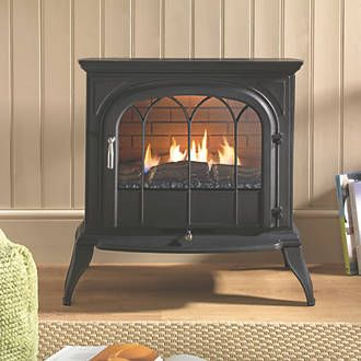 Order online at Screwfix.com. Traditional, freestanding cast stove. 100% efficient as it does not require a chimney or flue to operate. Choose from 3.1kW and 1.5kW heat settings. Featuring a catalytic converter system ensuring all of the heat produced goes directly to warming the room, rather than being lost, reducing energy costs. Easy to use controls which are ideally located at the front of the stove allowing the fire to be installed into inglenooks or freestanding in the room. Can be…