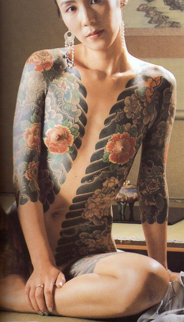 Horitoshi I - scan from Takagi Akimitsu's Tattooed Ladies vol 1.    heads chopped, book is way too large.