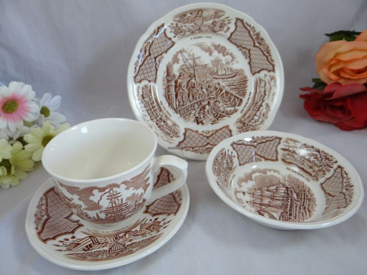 SALE 1960s Vintage Alfred Meakin Fair Winds by SecondWindShop : meakin dinnerware - Pezcame.Com