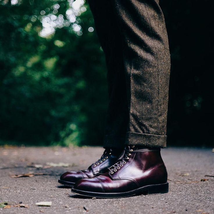 Apropos aktuelle Beinlänge bei Hosen: Gerade bei (Halb-)Stiefeln sollten Hosen nicht länger sein, als hier gezeigt (und den Spann höchstens knapp berühren)!