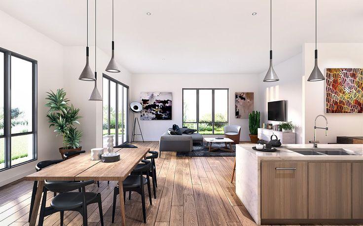 Interior 3d Render Dining Room-