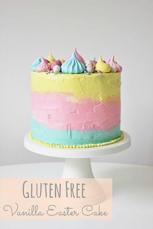 Gluten Free Vanilla Easter Cake by Lydia Bakes