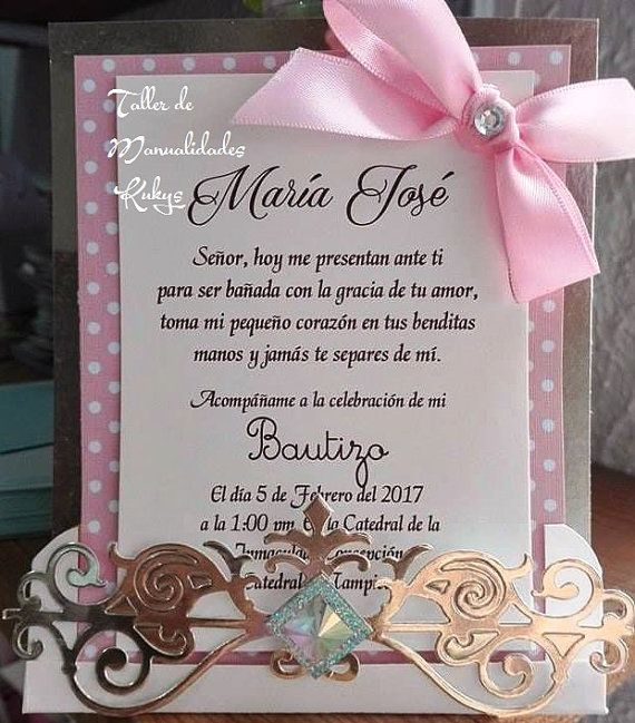 Best 25+ Invitaciones de bautizo ideas on Pinterest | Invitaciones bautizo, Invitacion bautizo ...