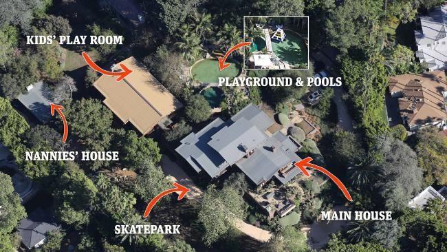 Angelina Jolie and Brad Pitt's massive Hollywood compound