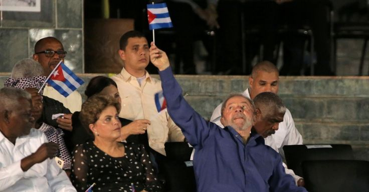 Lula e Dilma chegam a Cuba para homenagens a Fidel Castro