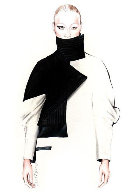 Fashion illustration for Luis Buchinho F/W 2015 // Antonio Soares