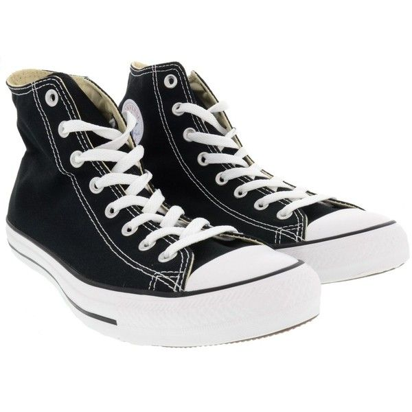 Converse Shoes ($59) ❤ liked on Polyvore featuring shoes, black, black shoes, converse footwear, kohl shoes and converse shoes
