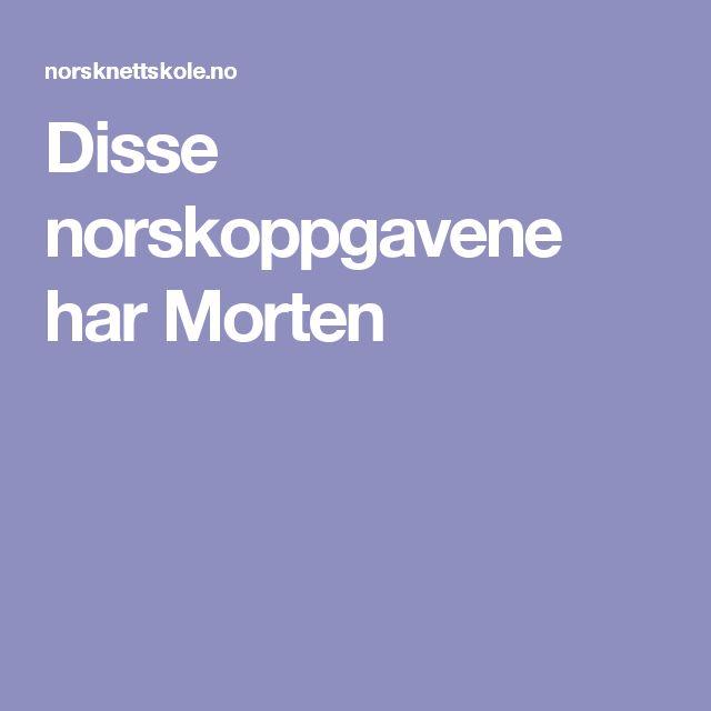 Disse norskoppgavene har Morten