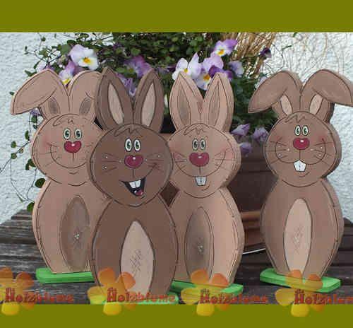 1574 best osterhasen easter bunnies images on pinterest for Osterhasen basteln aus holz