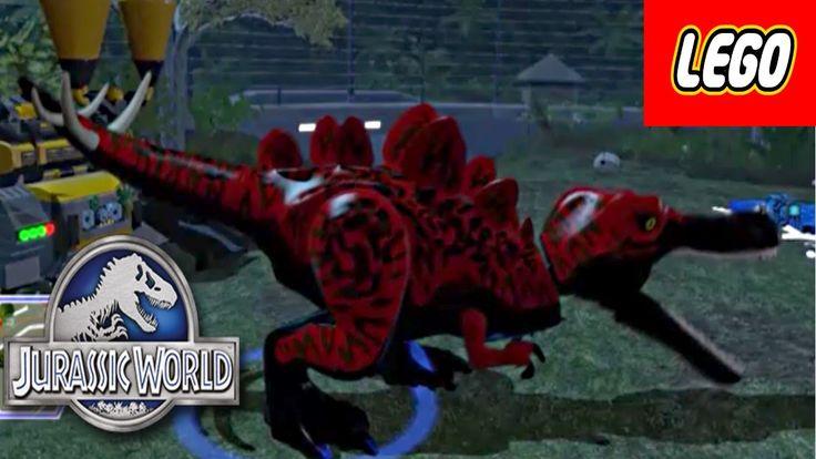 Jurassic World Lego Game Custom Red T-Rex, Spinosaurus Dino Creator Epis...