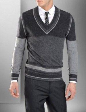 maglione grigio d