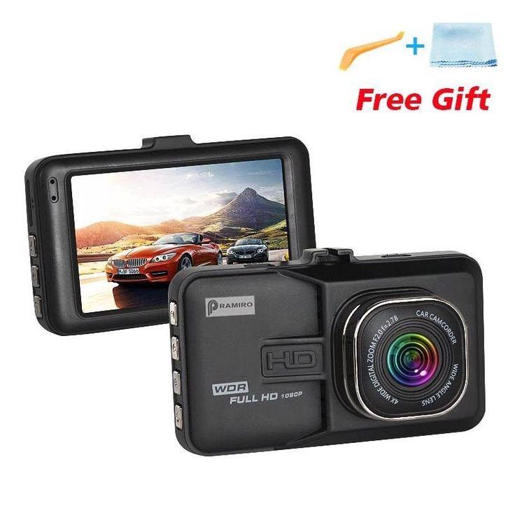DVR Camera For Driving Recording Car Detector 1080P Full HD 170 Degree Angle 32G #PRAMIRO