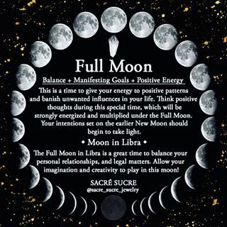 Full Moon Meaning! Information on the Moon, Moon meanings, and the moons affect on us! @sacre_sucre_jewelry has awesome information on healing crystals and stones as well!