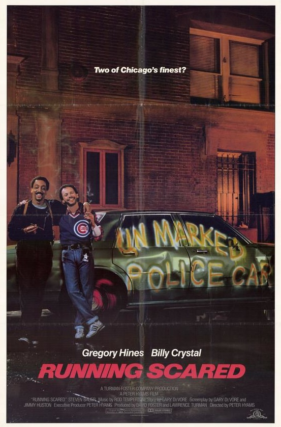 Running Scared.looking up billy crystal on pinterest just jogged my memory.SWEET FREEDOM by micheal McDonald was from RUNNING SCARED.and that movie was great.i thought it was so funny when they spray painted unmarked police car on the chevy caprice that Gregory hines and billy crystal were riding around in.