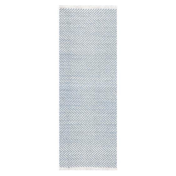 Herringbone Cotton Designer Runner Rug