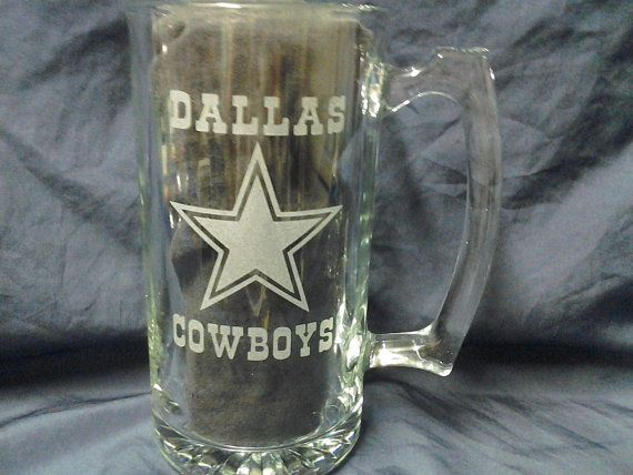 sports team mugs, Dallas Cowboys mugs, Etched beer mugs, football beer mugs,Customized beer mugs, Man Cave, Cowboys, etched gifts