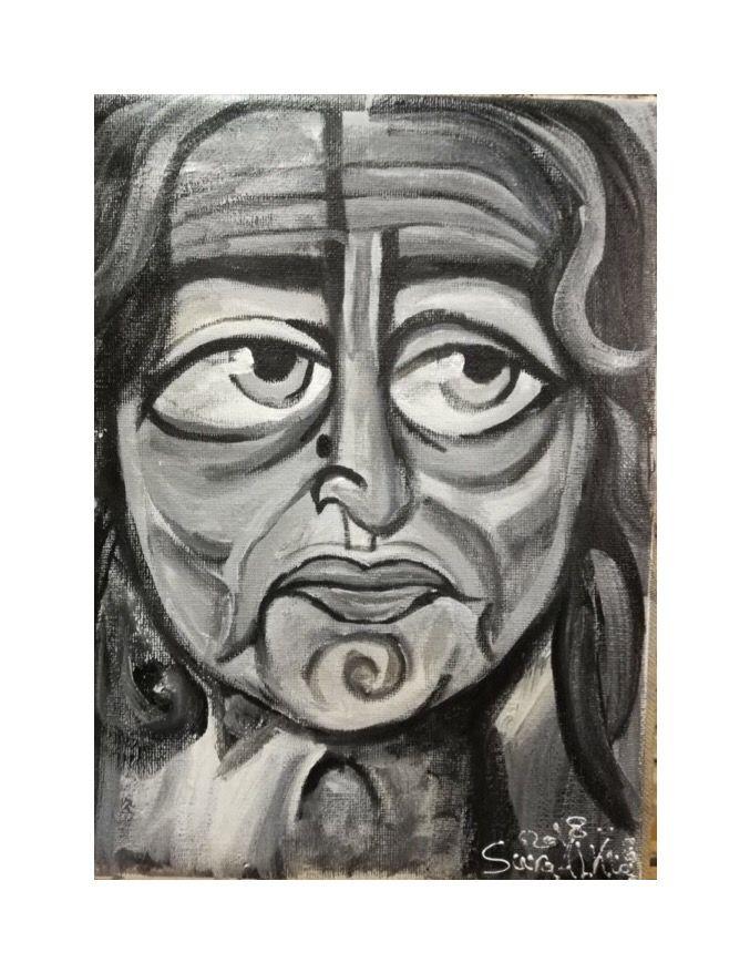 زها حديد Acrylic On Canvas سرى الخفاجي رسم لوحات معماري فن تشكيلي العراق اربيل السليمانية الامارات الأردن دبي ال Art Portrait Tattoo Painting