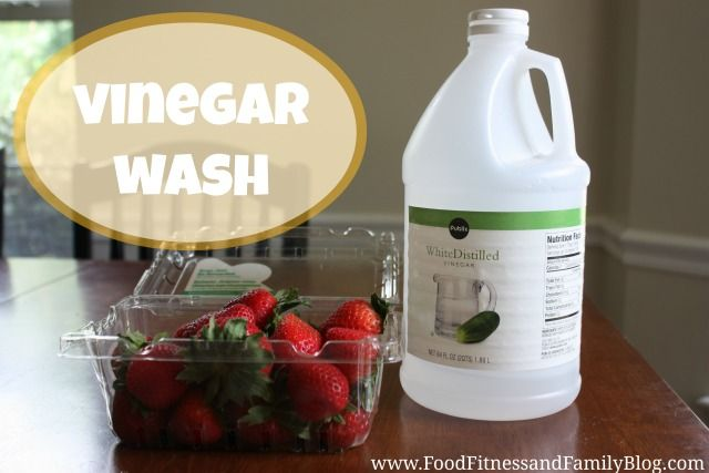 Vinegar Wash for Fruits and Veggies