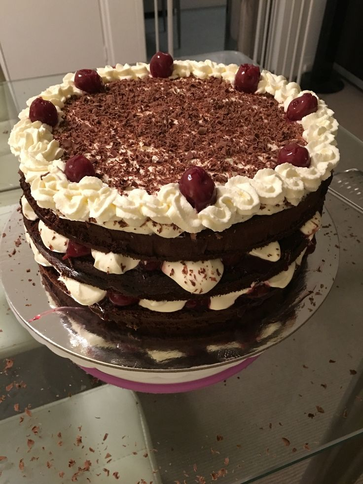 The classic Black Forrest cake, simply devine.