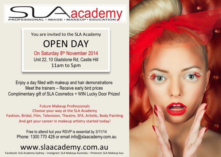 You are invited to join us on the 8th November at our SLA Academy Open Day!