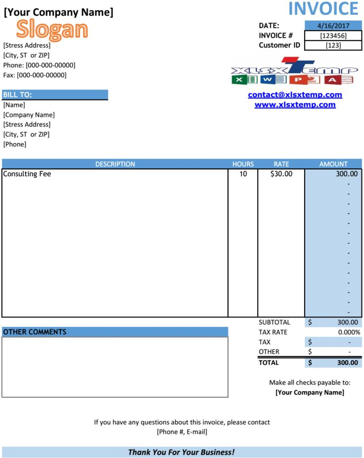 Best Excel Business Invoices Images On   Invoice