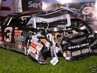 DALE EARNHARDT SR. 2001 DAYTONA 500 CRASH CAR 1/24 (07/10/2009)