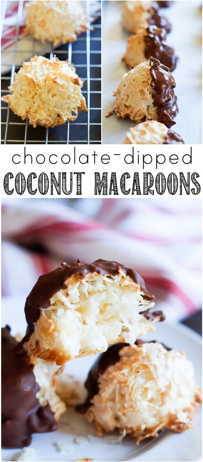 Coconut Macaroons ... big, chewy, fluffy cookies made with unsweetened ...